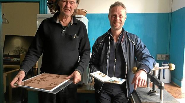 Niels Peitersen og Søren Behncke - står bag Det Mobile Trykkeri. Privatfoto
