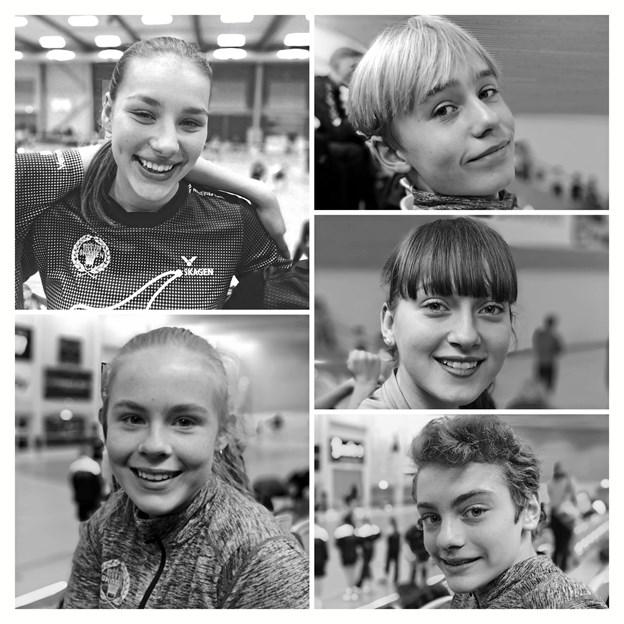 Sara Cloos Larsen, Caroline Kolbro, Lærke Yder, Andreas Diget Hermansen og Johannes Ravn er glade for at spille badminton.