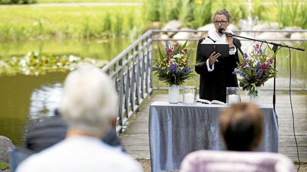 Sognepræst Jessie Jørgensen forestod gudstjenesten. Foto: Allan Mortensen