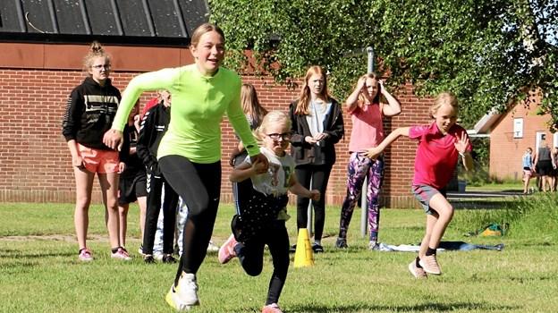Eleverne var inddelt i hold på tværs af klassetrin. Privatfoto Foto: Allan Mortensen