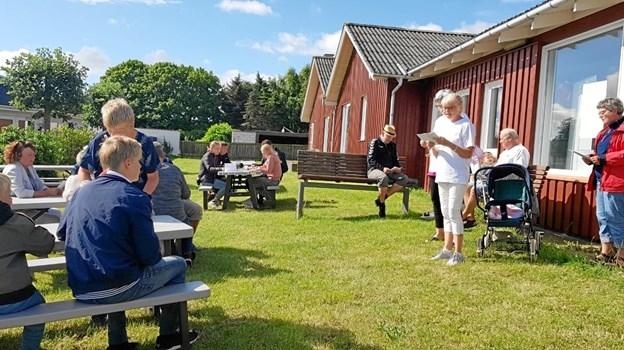 Deltagerne blev bud velkommen til dette nye tiltag i Øster Hurup. Foto: privat.