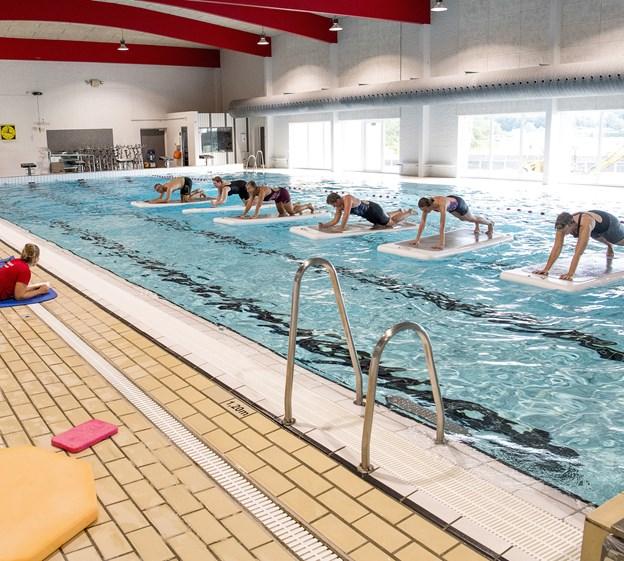 Floatfit-træning er bare et af de gratis træningstilbud i Aars Svømmeklub i den kommende uge. Arkivfoto