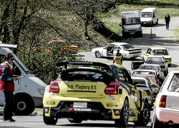 Der var i alt 43 deltagene biler ved Hill Climb Rally i Tolne. Foto: Peter Jørgensen Peter Jørgensen