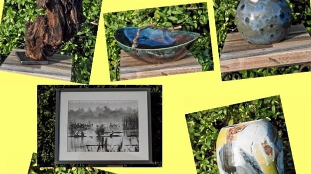 Et udvalg af de genstande, som man vil kunne se på dette års sommerudstilling i Den Runde Pavillon.Privatfoto