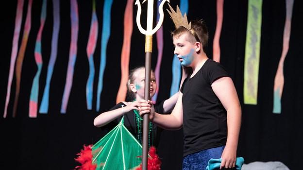 Kong triton var selvfølgelig med i teaterstykket.Foto: Bente Poder