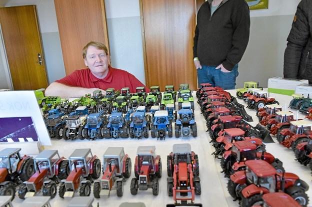 Steen Sørensen, Bedsted viste sin flotte samling af traktorer. Foto: Ole Iversen Ole Iversen