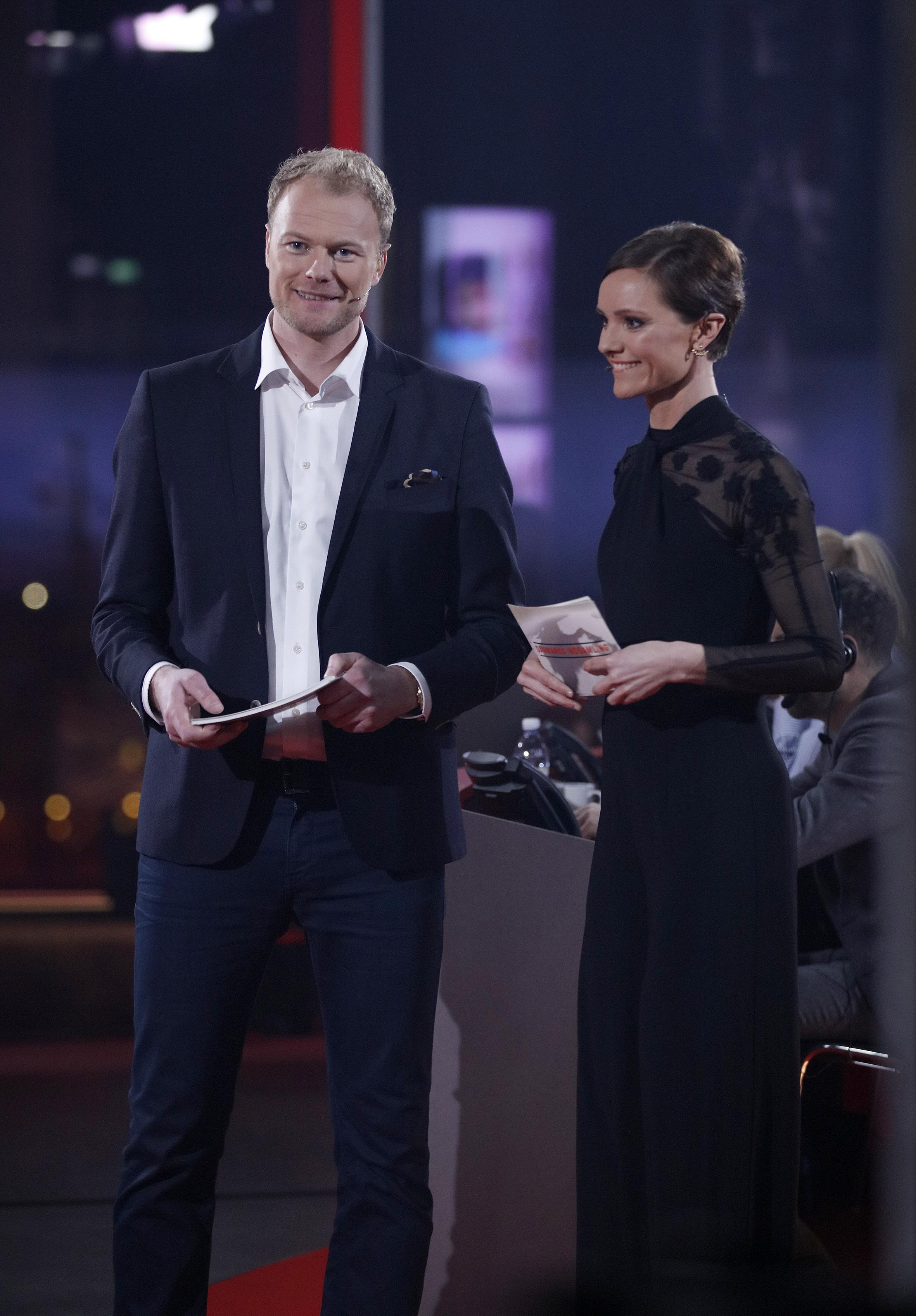 Værter ved showet i 2018 var Lise Rønne og Christian Degn - om der er genvalg til de to næste år er endnu ikke offentliggjort. Foto: DR