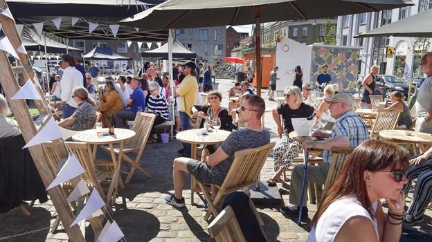 Frederikstorv blev indviet i juni sidste år, siden har der været masser af aktiviteter i området. Arkivfoto: Michael Koch