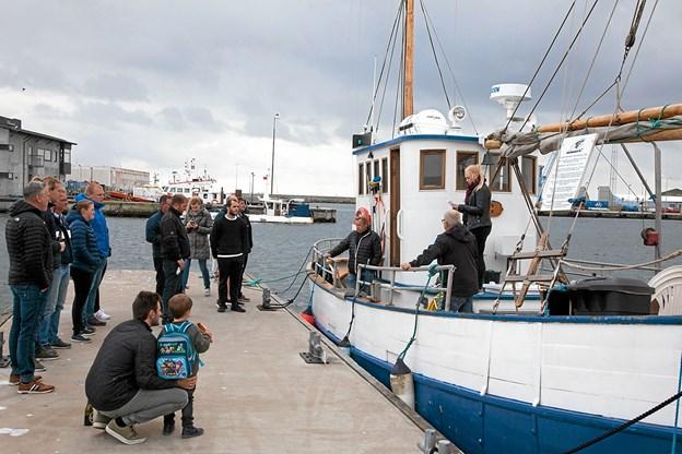 Indvielse af dykkerskibet Oberon lørdag.Fotos: Peter Jørgensen