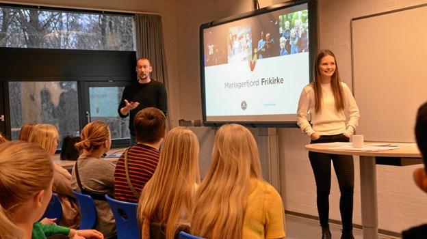 Mariagerfjord Frikirke var også repræsenteret på Religionernes Dag. Privatfoto