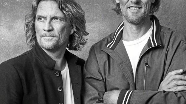 Duoen Sko/Torp var meget store i 90'erne, og de er blandt navnene til onsdagskoncerterne i Nykøbing denne sommer. PR-foto.