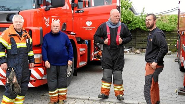 Det lokale brandkorps viste deres biler frem.   Foto: Jens Brændgaard