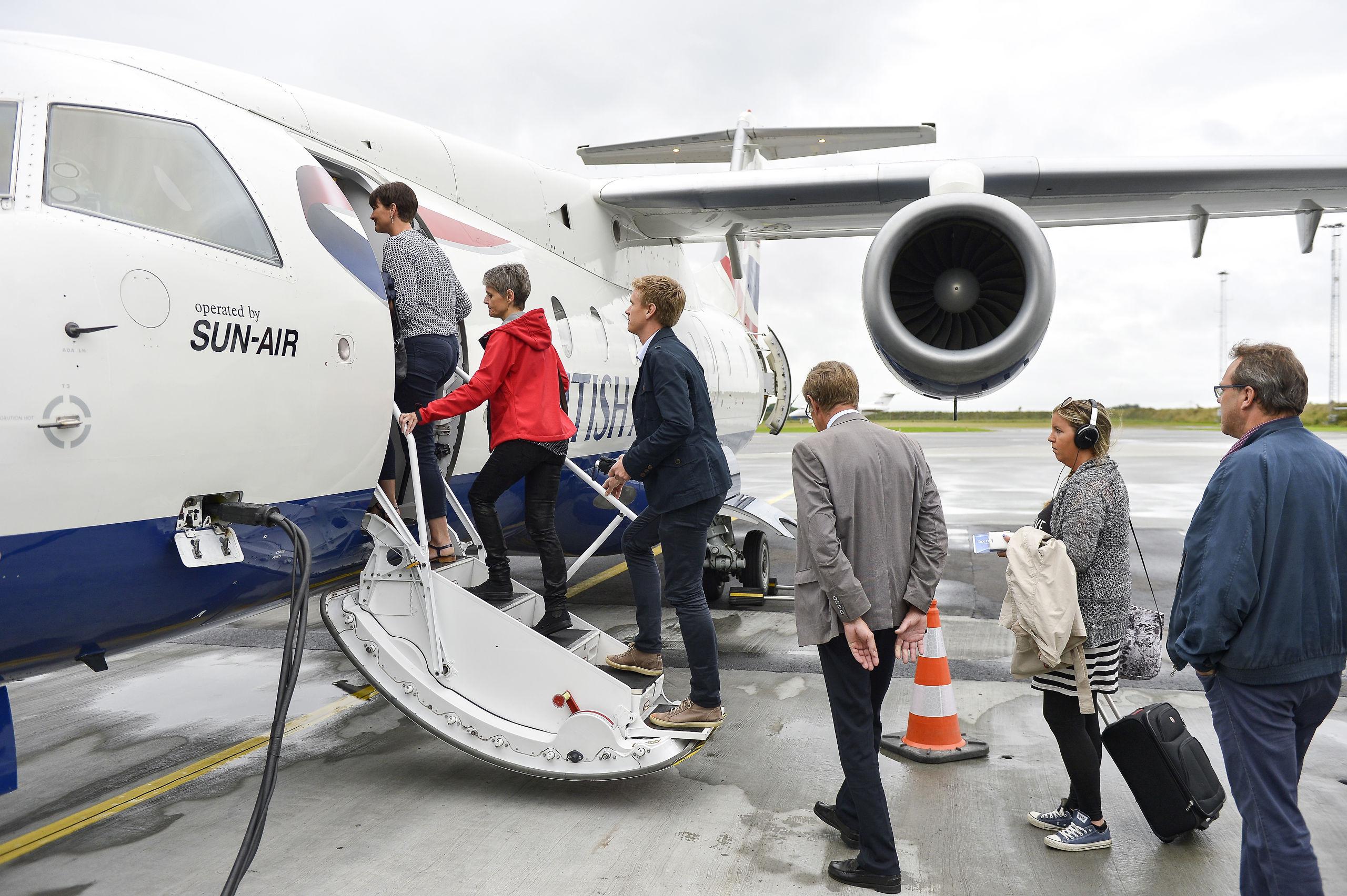 Det er slut med at gå ombord på Sun-Airs maskine til Oslo - selskabet har netop opgivet den direkte rute fra Aalborg . Arkivfoto