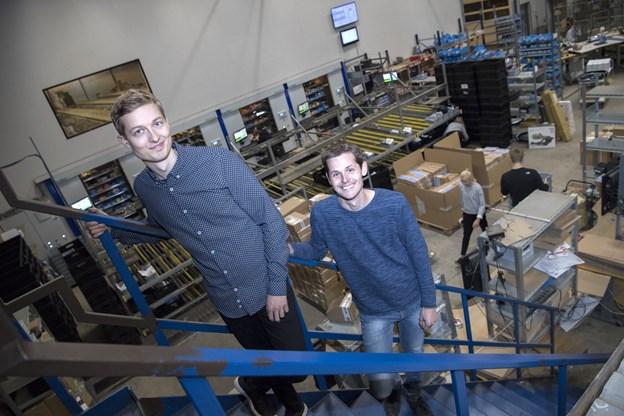 Erik og Kasper Buus er brødre og stiftere af virksomheden Cykelgear A/S i Terndrup. Arkivfoto: Mette Nielsen