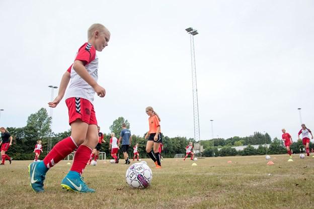 En hel uge med fodbold var på programmet. Foto: Henrik Louis