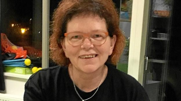 Mona Petersen, der sidder i bestyrelsen i Landsforeningen autisme, Kreds Nordjylland, er vært ved arrangementet.
