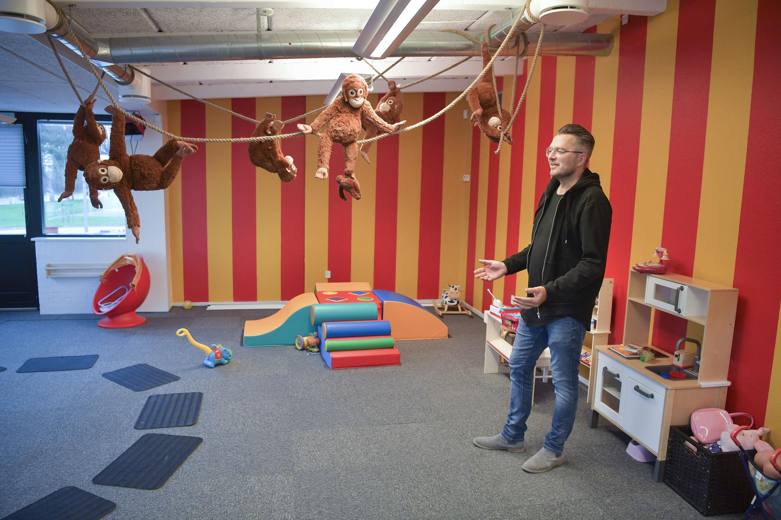 Et legerum er også at finde i det nye kulturhus. Foto: Claus Søndberg