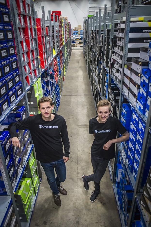 Erik og Kasper Buus er brødre og stiftere af virksomheden Cykelgear A/S i Terndrup. Arkivfoto: Martin Damgård Martin Damgård