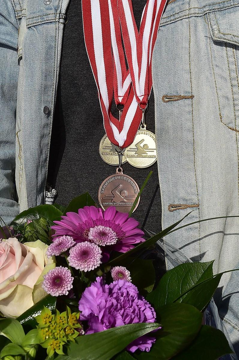 Katrine Bukh Villesens medaljehøst. Foto: Ole Iversen