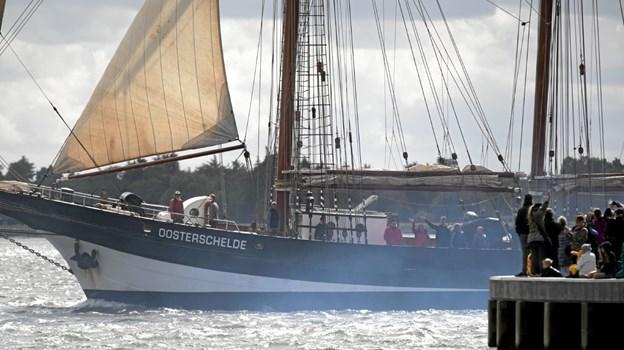 Der var gode muligheder for at tage afsked med skibene. Foto: Allan Mortensen Allan Mortensen