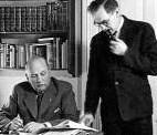 Redaktør Aage Vogelius og redaktionssekretær Frede Eilertsen foreviget lige inden Schalburgtagen.