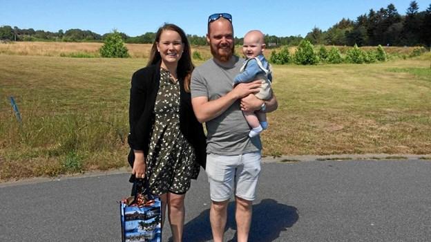 Jesper og Camilla er oprindeligt fra Østervrå, hvor deres familie bor, selv vil de gerne bo i Sæby. Privatfoto.