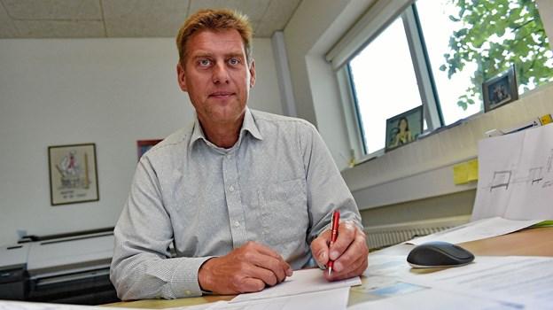 Ricky Larsen vil føre virksomheden videre i samme velkendte ånd, fortsat som en lokal forankret murer og entreprenør virksomhed. Foto: Ole Iversen Ole Iversen
