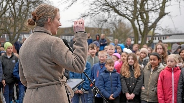 Årets kampagne blev skudt i gang på Åvangsskolen på Bornholm. Privatfoto