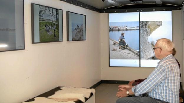 Tirsdag 9. juli var der besøg af den digitale udstillingsplatform PixlArt. Denne udstilling arbejder på at udvikle Nordjylland gennem kunst og kultur. Foto: My Hyttel My Hyttel