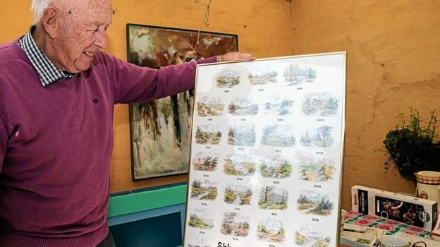 Christian Lautrup har igennem 25 år, leveret julekort til Skiveren Camping, Foto: Peter Jørgensen Peter Jørgensen