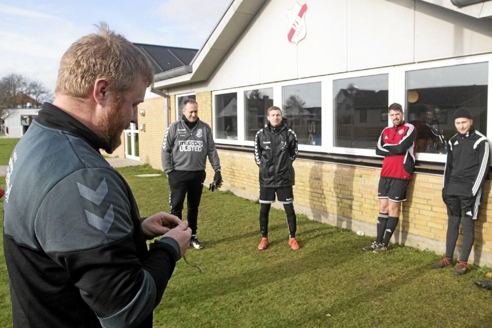 Christian Westergren er ny mand i spidsen for seniorspillerne i Ulsted Boldklub. Foto: Allan Mortensen