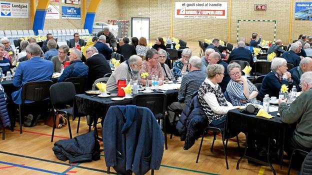 Omkring 50 borgere var kommet til dialogmødet om det nye plejecenter. Foto: Niels Helver Niels Helver