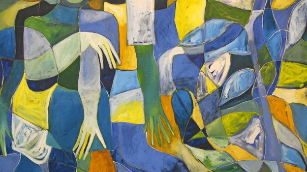 Et af udstillingens værker af kunstneren Kizito Maria Kasule fra Uganda.  Foto: Jørgen Ingvardsen Jørgen Ingvardsen