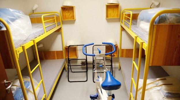 Køjesengene til regeringsmedlemmer og personalet står stadig klar til brug. Arkivfoto: Niels B. Meredin © Niels B. Meredin