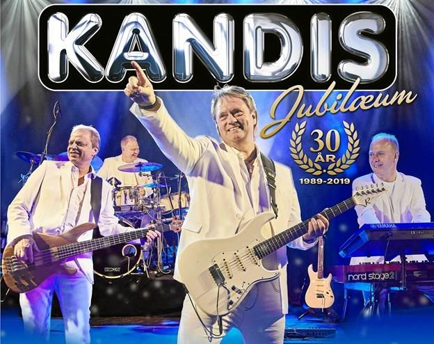 Gruppen Kandis fra Hurup har nu eksisteret i 30 år og fejres på Sjælland. Her det officielle programfoto.