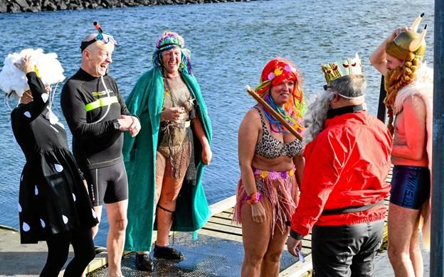 Vinterbaderforeningen Sælhundene i Hals afviklede forleden den årlige dåbsceremoni. Privatfoto