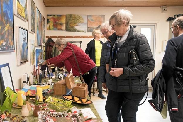 Mange besøgende fandt vej til forårsudstillingen. Foto: Allan Mortensen Allan Mortensen