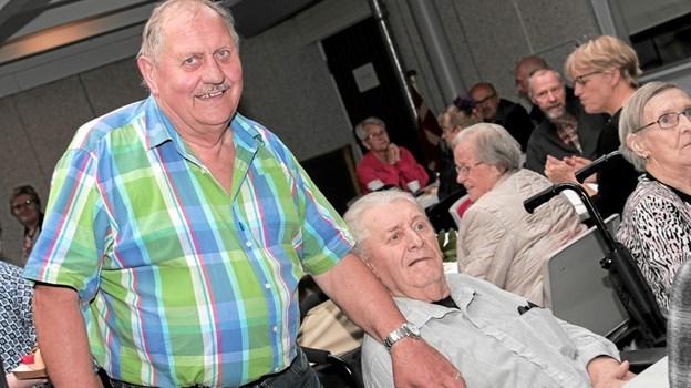 Næstformand for Vendelbocentrets Venner Jens W. Nielsen, her sammen med Ivan Nielsen. Foto: Peter Jørgensen Peter Jørgensen