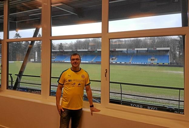 Brian Svanholm - formand for Hobro Vikings - glæder sig til to døgn med lan party i DS Arenas  lounge. Privatfoto