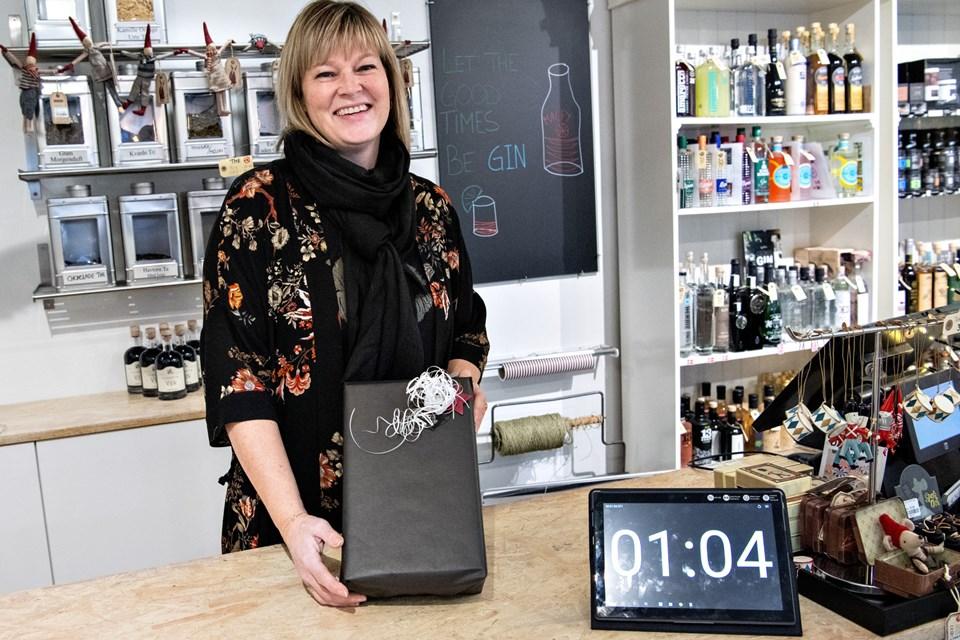 Butiksejer Christina Blach fra Blach & Co satte sig på 5. pladsen. Foto: Kim Dahl Hansen Foto: Kim Dahl Hansen