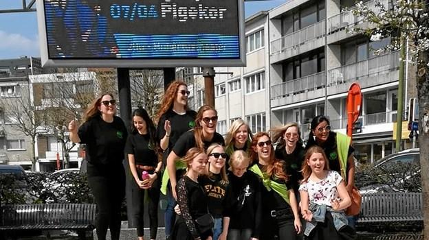Mariagerfjord Pigekor inden koncerten i Neerpelt i Belgien. Privatfoto