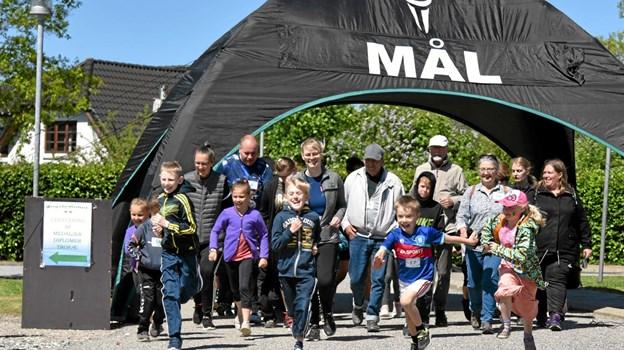 Der var fuld fart på børnene, da starten gik til 3 km ruten. Foto: Niels Helver Niels Helver