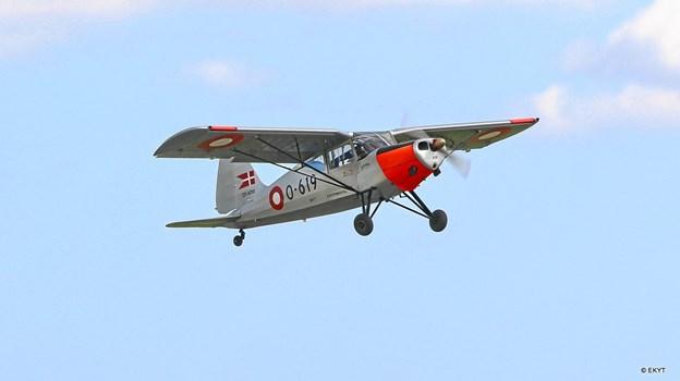 KZ-VII - en danskbygget flyver, der har tjent i det danske flyvevåben deltager ligeledes. Privatfoto NIELS JOERGEN LASSEN