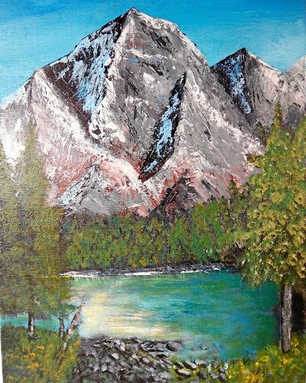 Først malede Willy Oien bjerglandskabet, siden fotograferede han det.