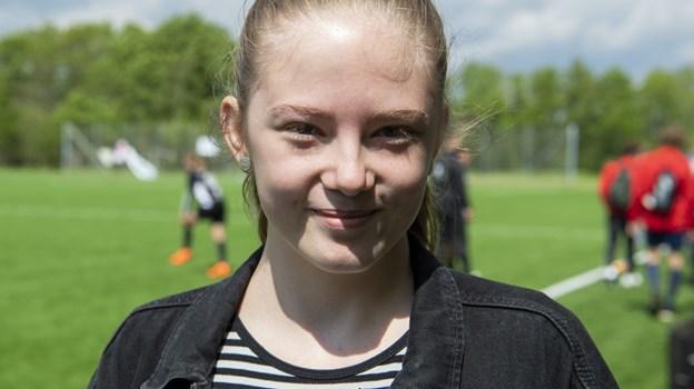 Alle elever på Aabybro Efterskole er involveret i stævnet på den ene eller den anden måde. En af dem er 17-årige Mille Ottesen Sand. Foto: Kim Dahl Hansen