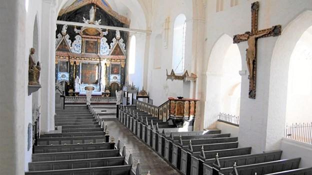 Klosterkirken danner ramme om fire orgelmatinéer i juli.