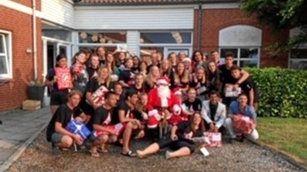 30 unge fra 22 lande på camp sammen i Vittrup Fagskole denne sommer.  Arkivfoto