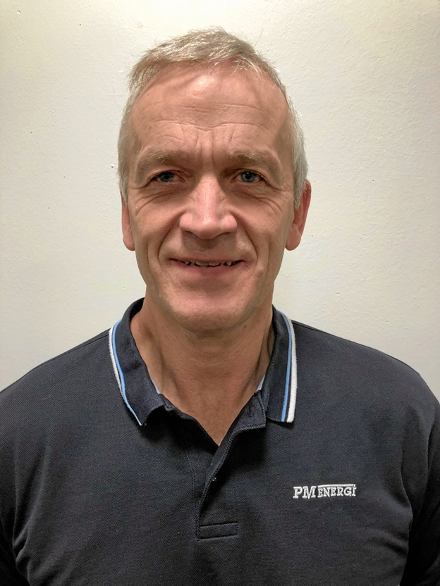 Frede Mortensen kan fejre 25 års jubilæum på PM Enerig.Privatfoto