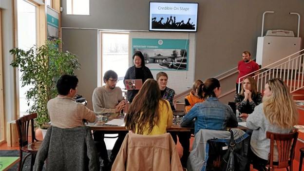 Unge talenter til workshop i sangskrivning. Foto: Jyske Talenter Jyske Talenter