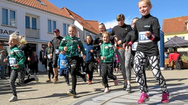 Start fra Torvet i Løkken og en eller flere runder omkring stranden afhængigt af distance. Foto: Kirsten Olsen